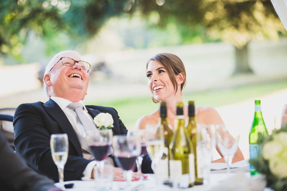 father of bride laughing