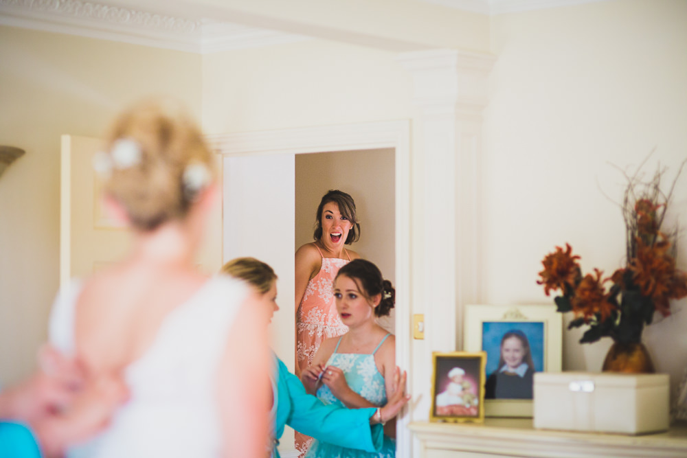 surprised bridesmaid