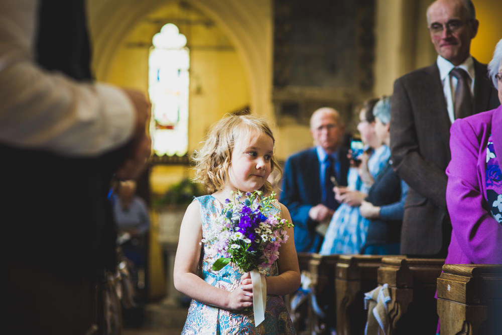 flower girl walking aisle