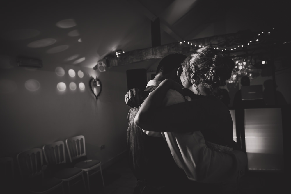 bride and groom first dance moment
