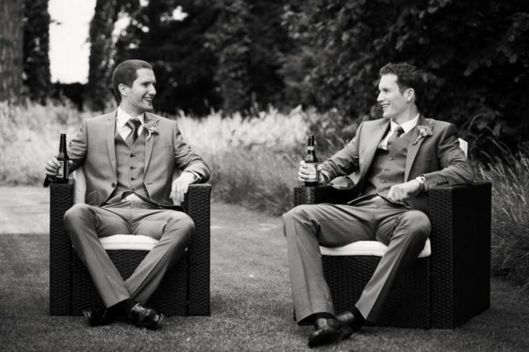 groom and best man pre-wedding