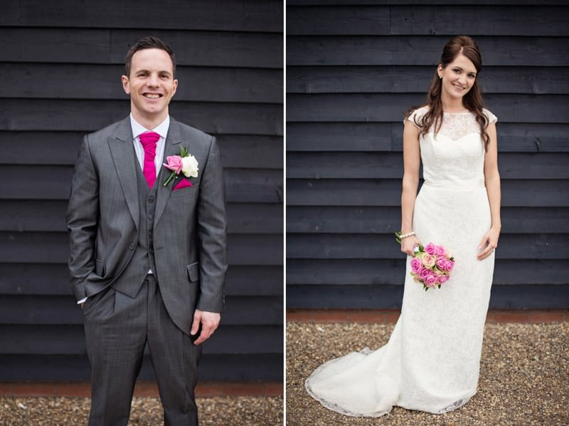bride and groom side by side