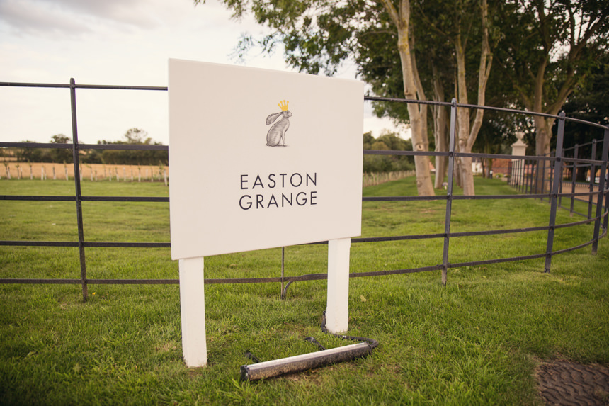 Easton Grange sign