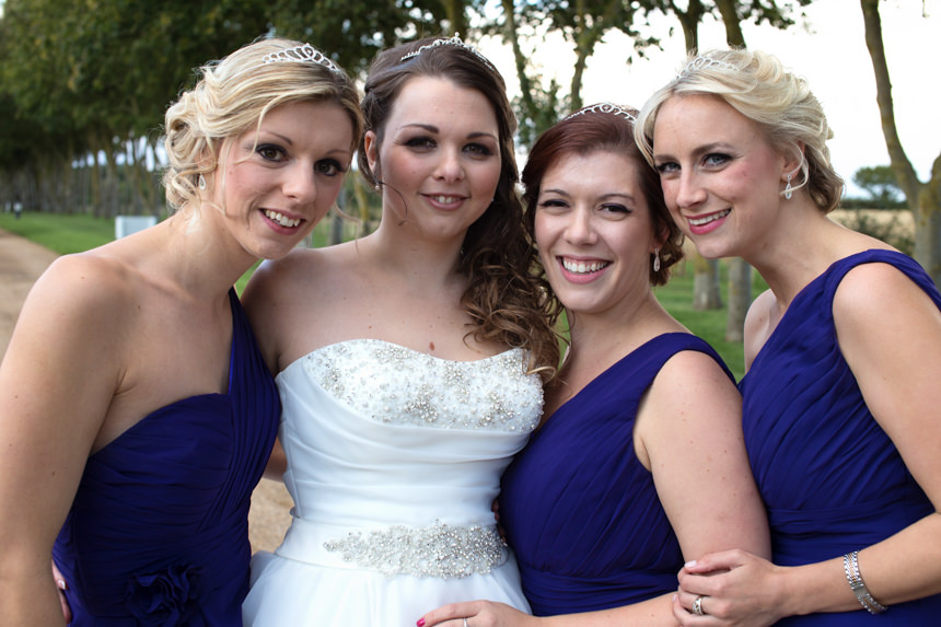 bridesmaid with bride
