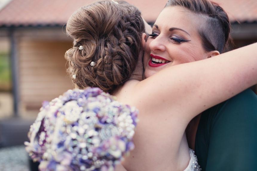 bride hug