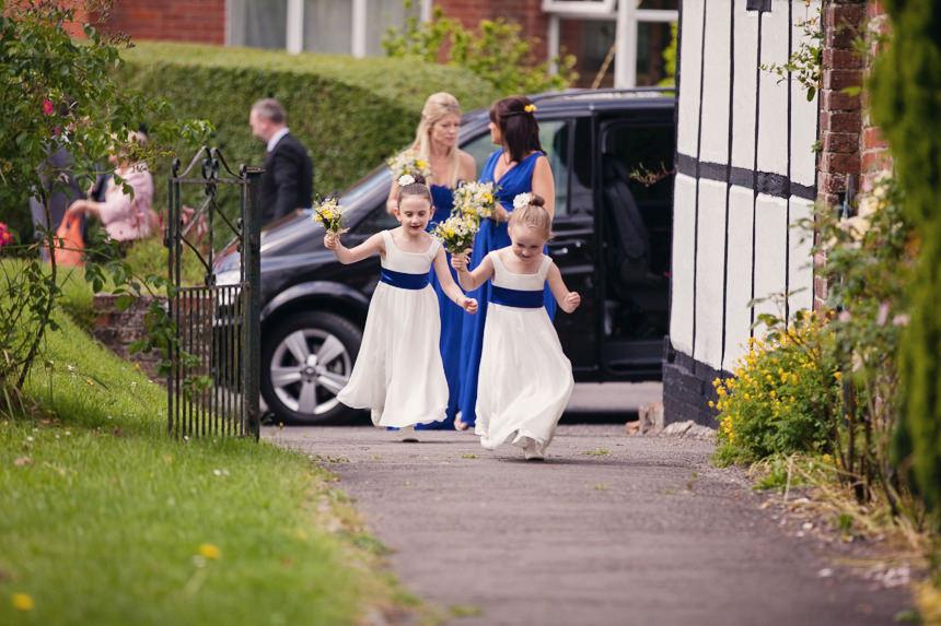 flower girls running