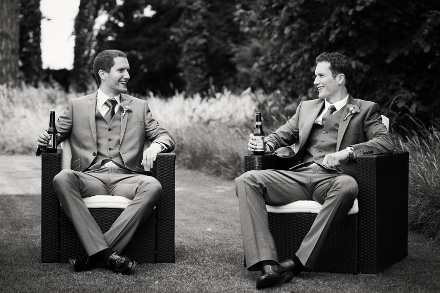 groom and best man pre-wedding