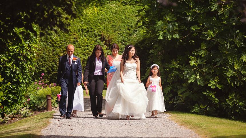 bride in sunshine