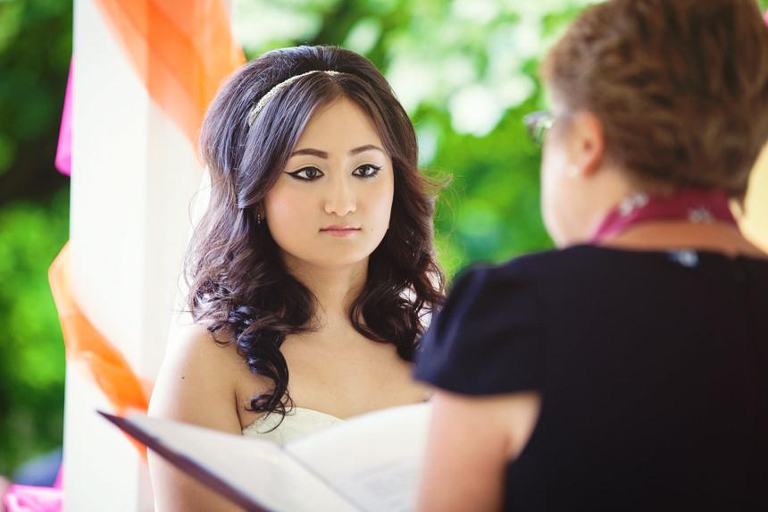 colourful bride photo