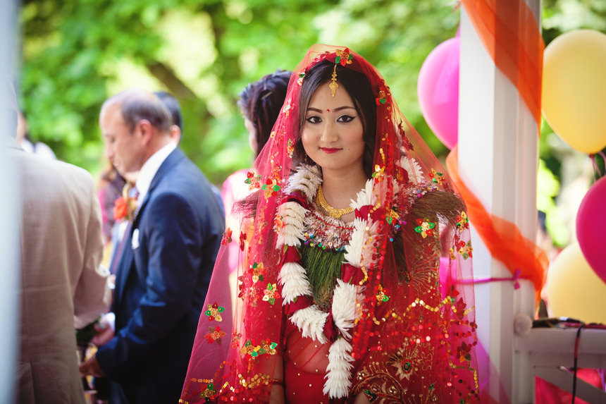 bride in Nepalese wedding outfit