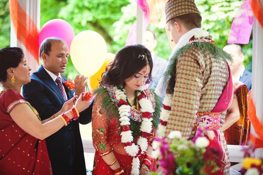 bride bows to groom