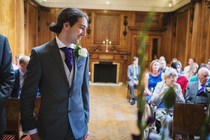 groom waiting