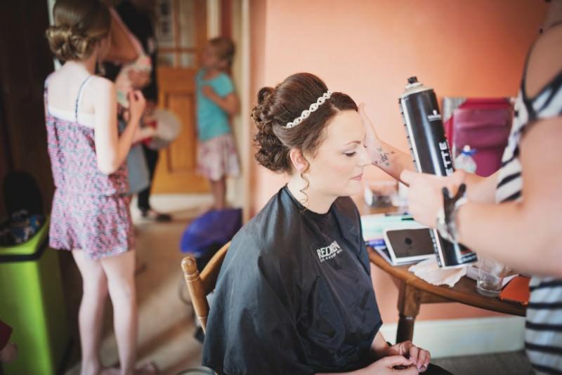 Bride in make up