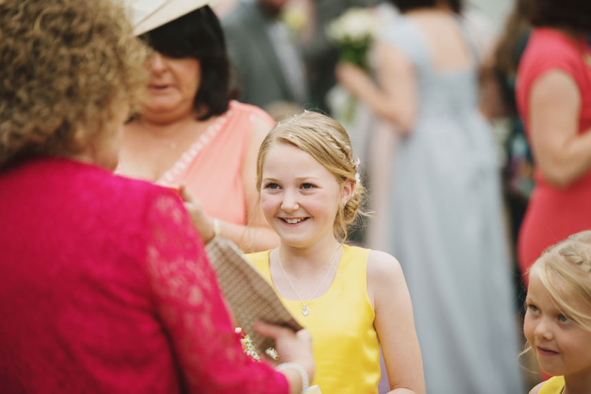 Flower girl smiling