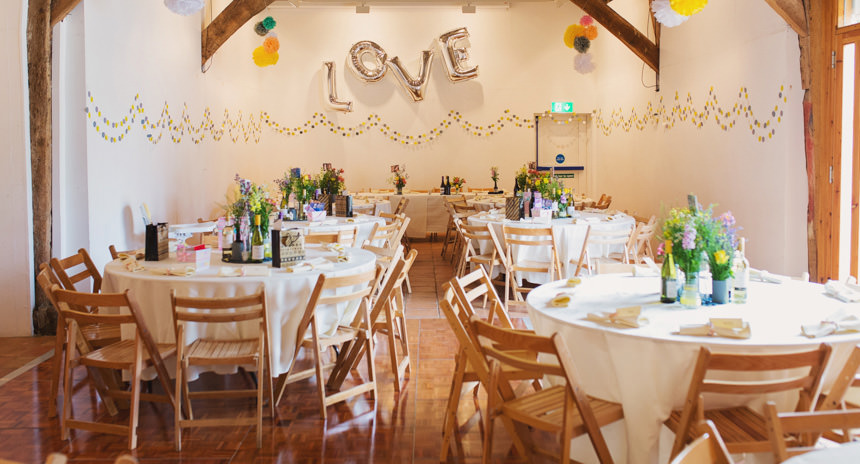 Wedding breakfast before guests come in