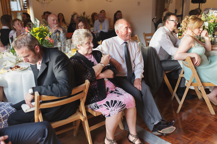 Guests listening to speeches