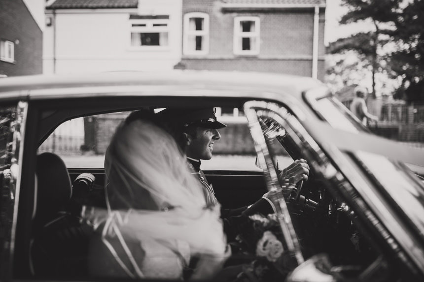 groom driving