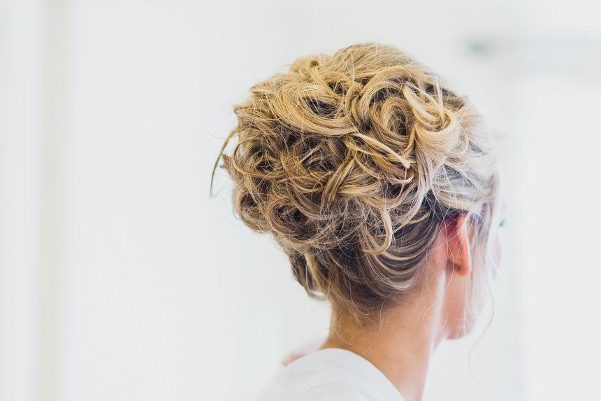bride's hair
