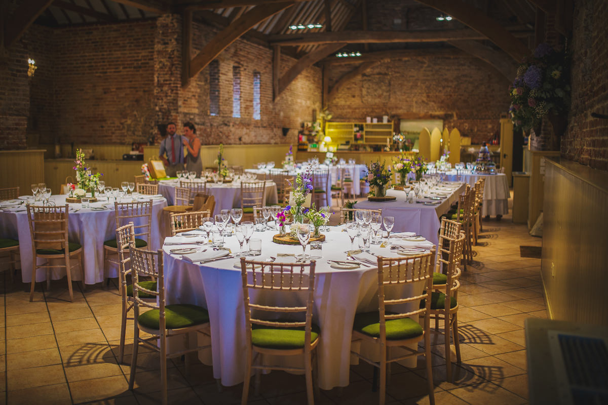 The barn reception room