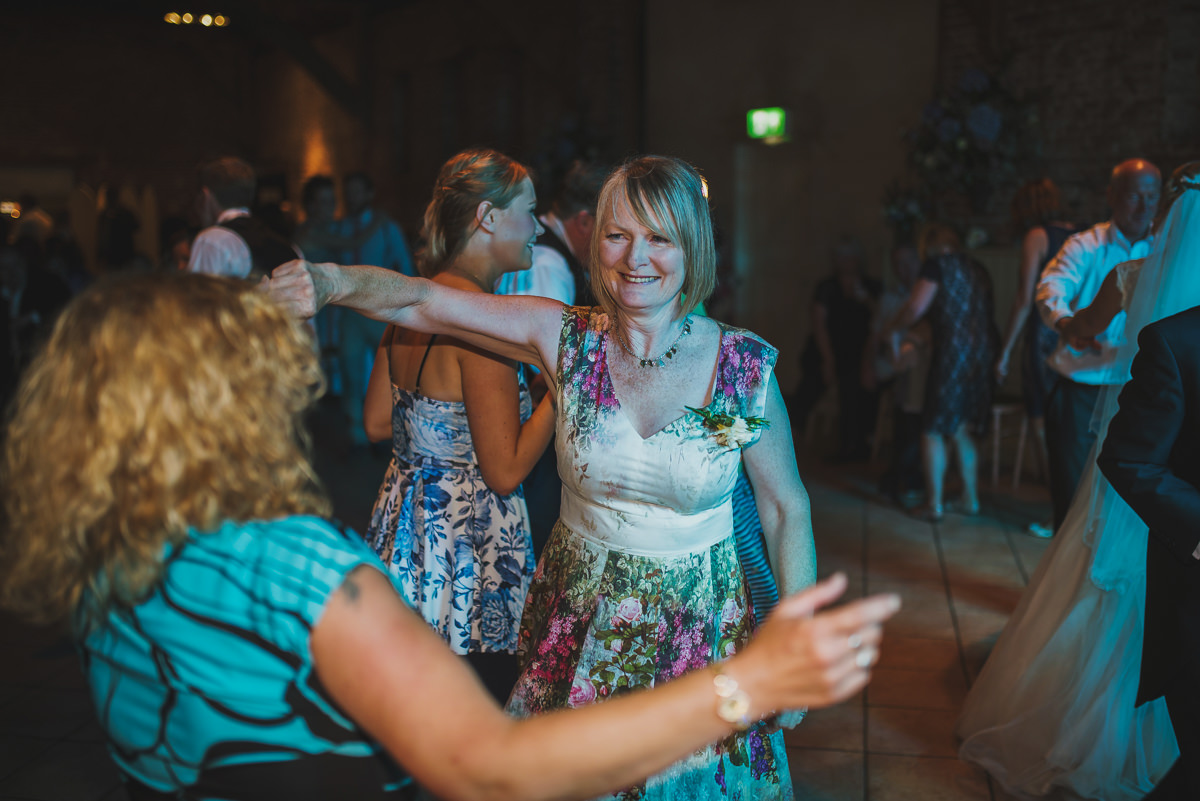 mother of groom dancing