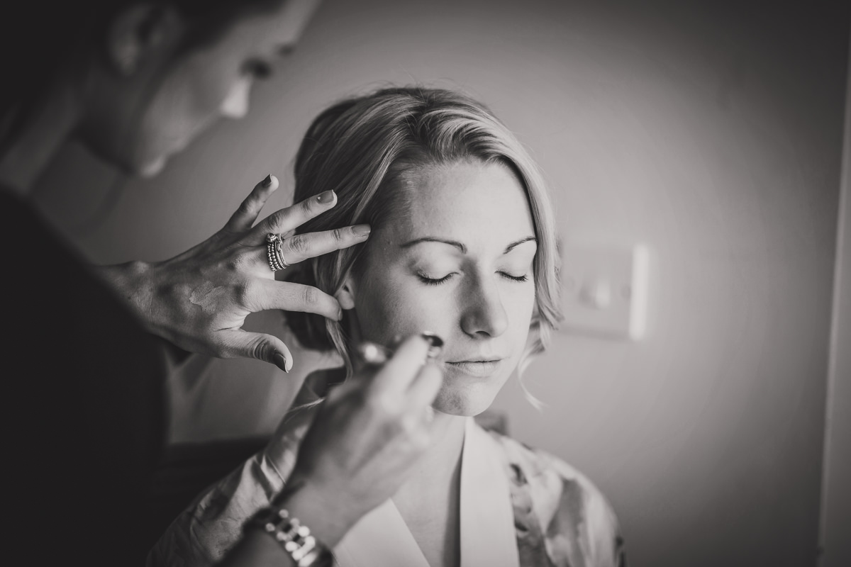 bride and air brush make up