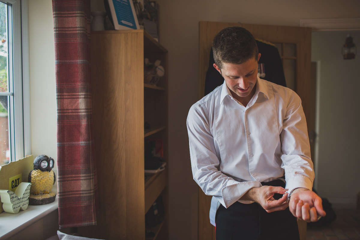 groom preparing for wedding
