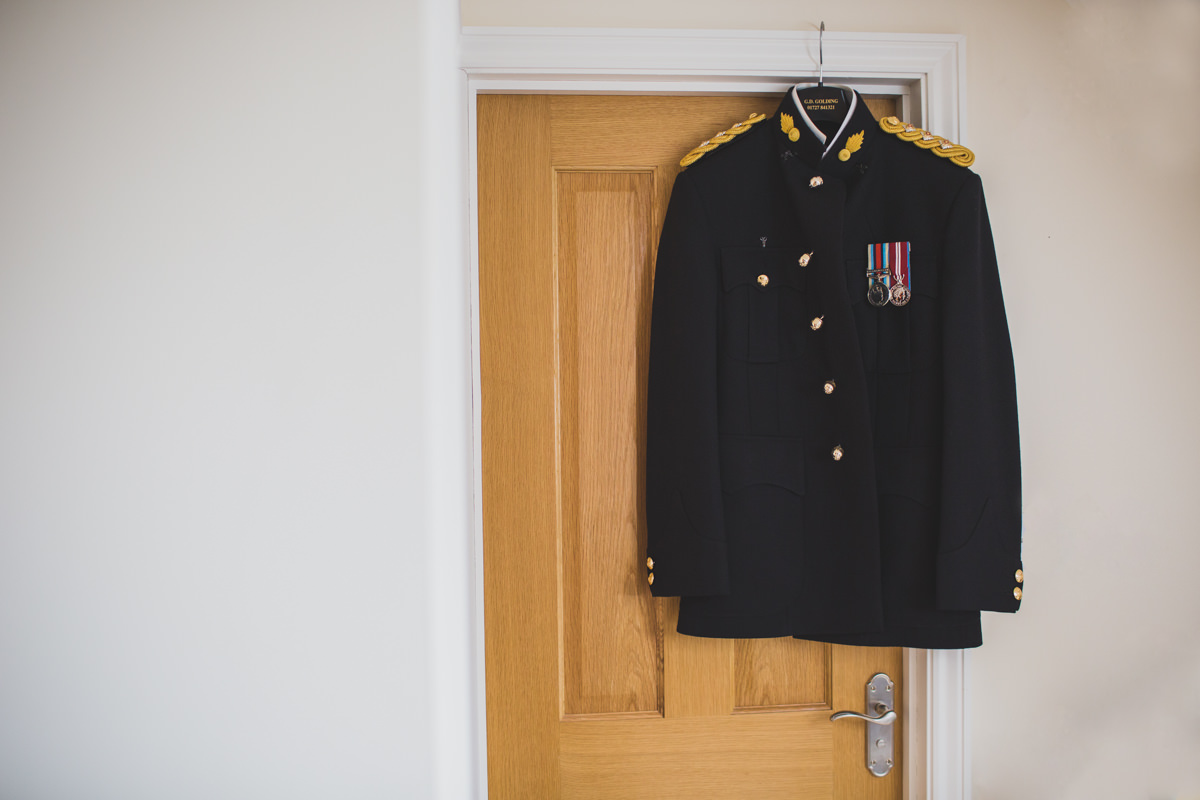 groom's jacket hanging up