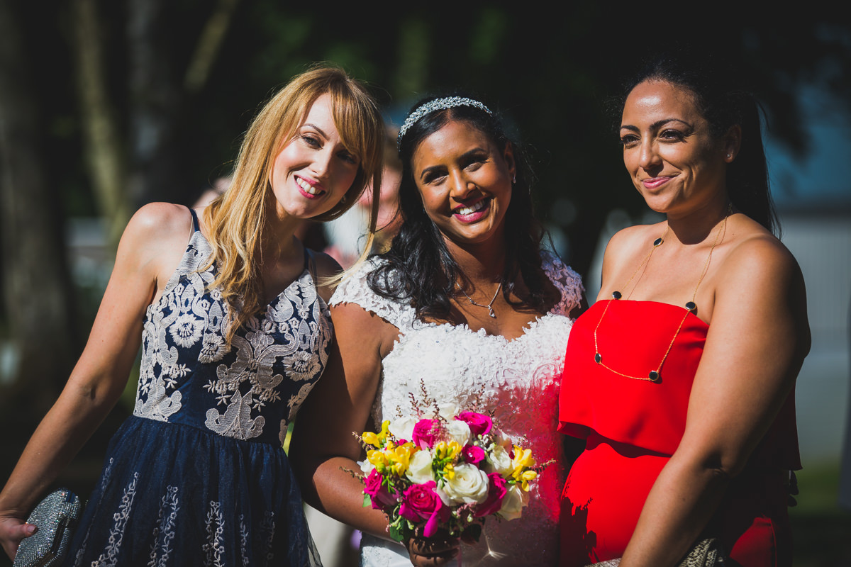 bride with two guests