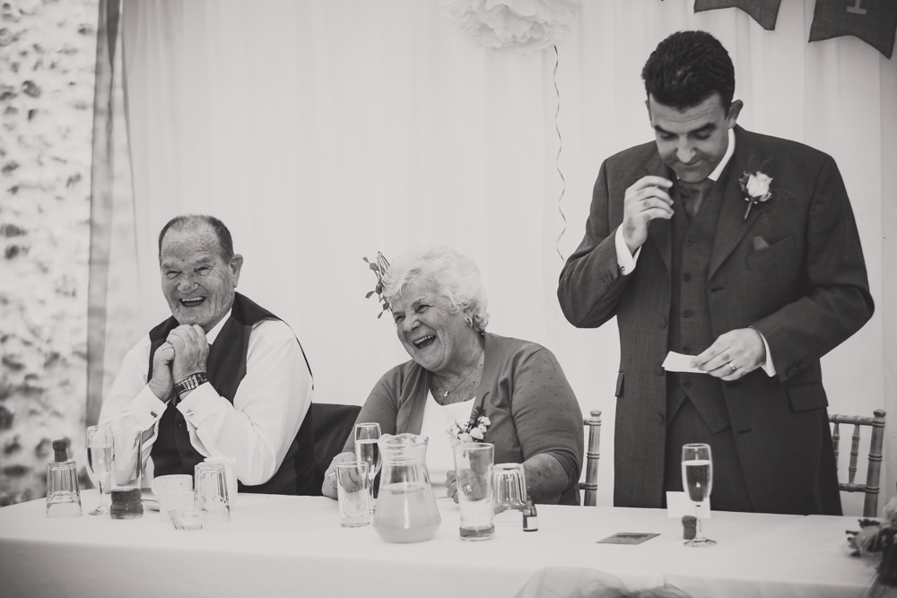 laughing parents of groom