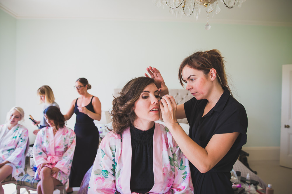 Bridesmaid in make up