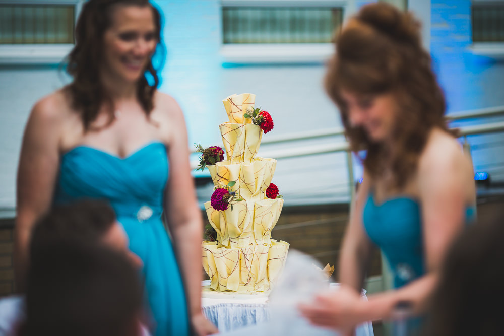 cake in background