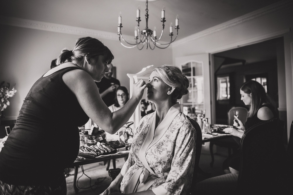 bride in makeup