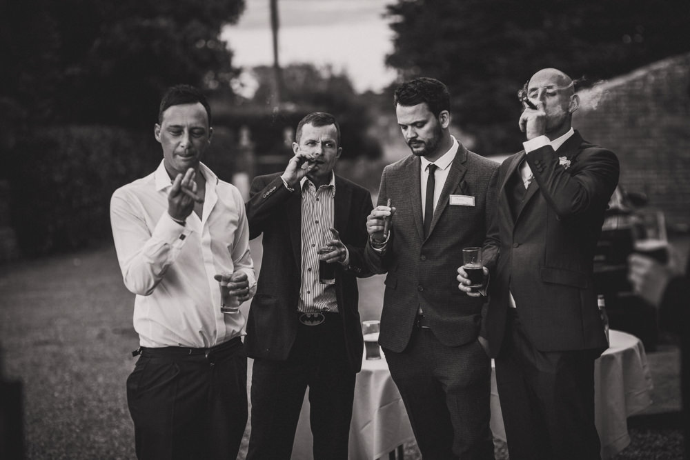 Groomsmen and cigars